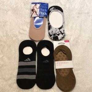 6 no show socks liners Peds Adidas Xhiliration